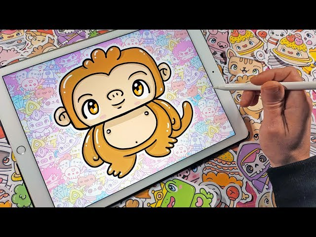 How To Draw a Kawaii Monkey  - Kawaii Doodles by Garbi KW