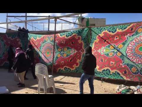 Jabil Mukhaber mourning tent rebuilding (via Media Resource Group)
