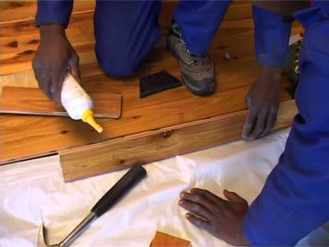 SAWLFA - Laminate Flooring Laying a T&G floor using the sticky mat system: Training Video 4