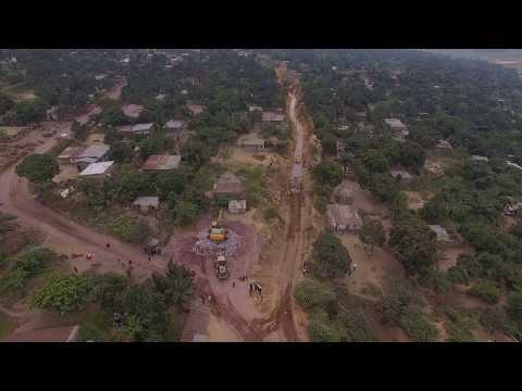 Presse ACGT NEWS: Poursuite des travaux contre l'érosion sanga mamba à Kinshasa(10/07/2017)
