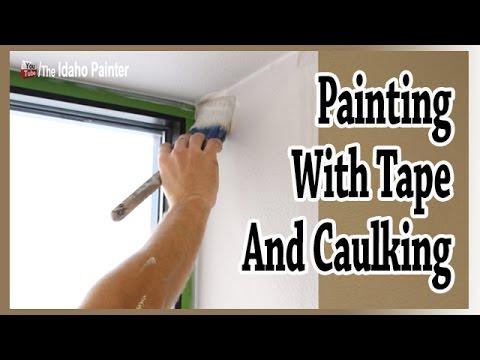 TIPS CAULKING WINDOWS. Painting With Frogtape U0026 Clear Caulking.