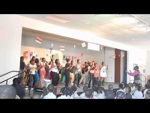 "My 7th & 8th grade class at George Crockett Academy singing ""Joyful Joyful"" 5/20/2015"