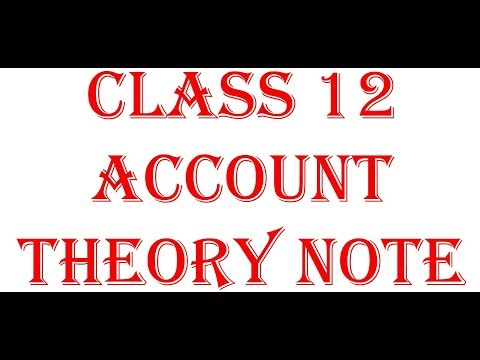 class 12 account theory note / solution