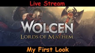 Wolcen: Lords of Mayhem - My First Look- live stream pve gameplay