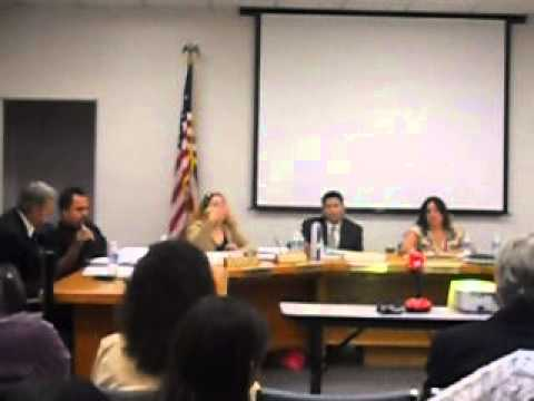 lennox school district/ Board meeting introduction of New Vision