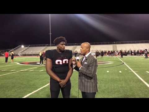 INTERVIEW & HIGHLIGHT - BLOCKED PUNT RETURNED FOR TD - LIVE HIGH SCHOOL FOOTBALL BROADCAST
