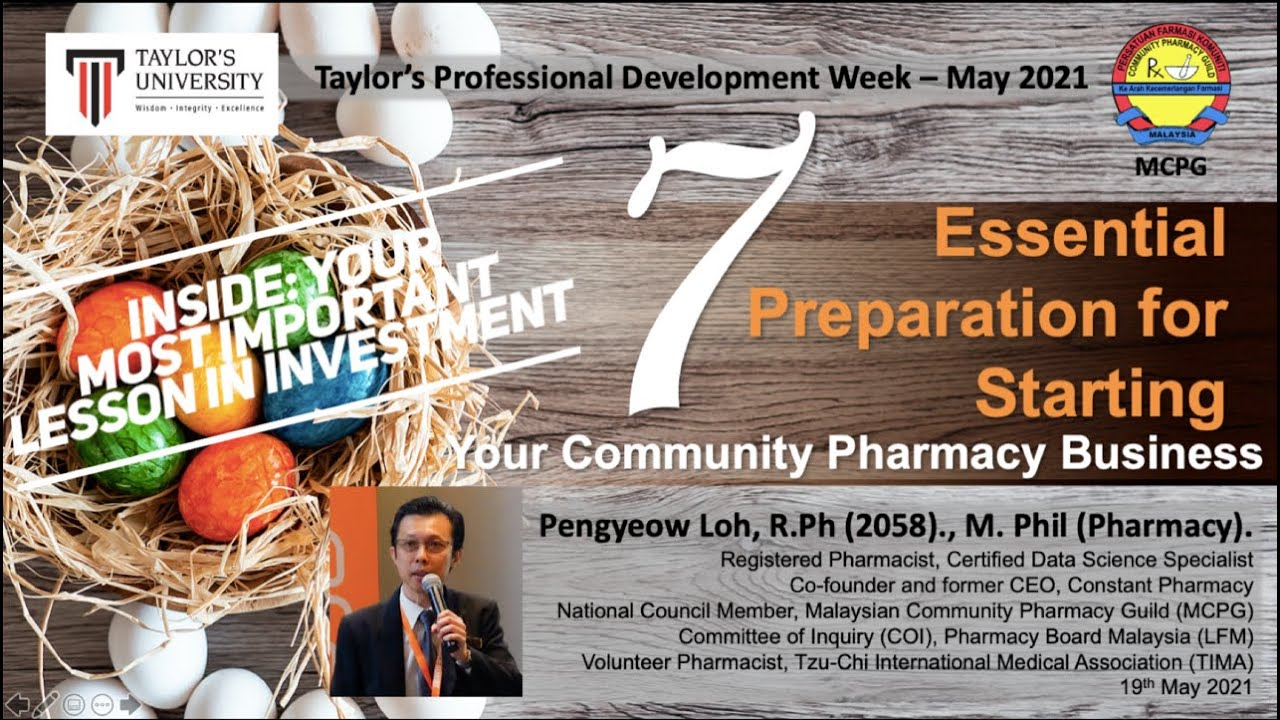 Download 7 Essential Preparation for Starting Your Community Pharmacy Business - Taylor's University Malaysia