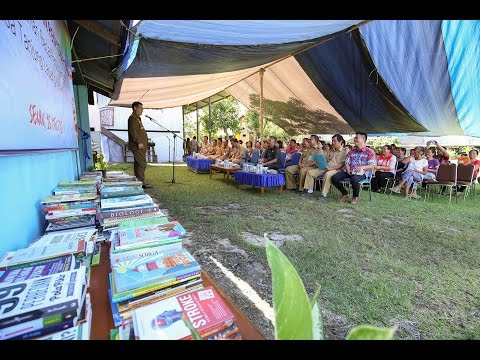 Bupati Malinau DR.Yansen TP resmikan Taman baca RT 1 tanjung lapang