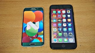 Samsung Galaxy S6 Edge Android 7.0 vs iPhone 7 Plus - Speed Test! (4K)