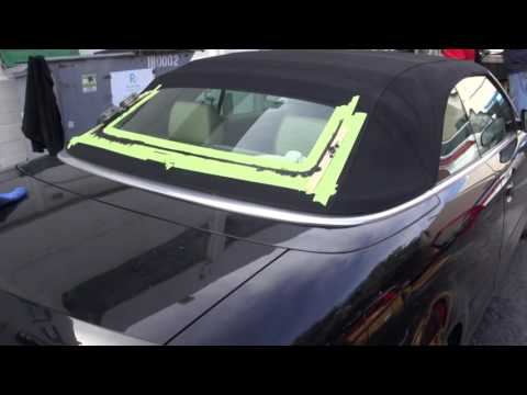 audi a4 convertible top window repair by cooks upholstery youtube. Black Bedroom Furniture Sets. Home Design Ideas