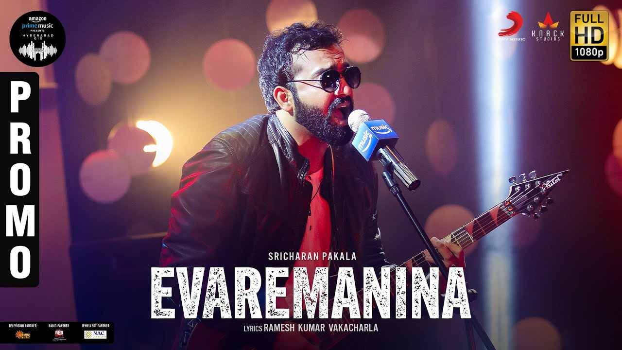 Evaremanina Promo | Amazon Prime Music Hyderabad Gig  | Sricharan Pakala | Yamini Ghantasala