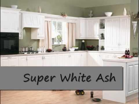 Super White Ash Kitchen Doors Wmv YouTube
