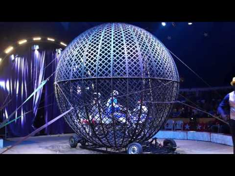 Circus id0372 Globe of death Belarus   Colombia