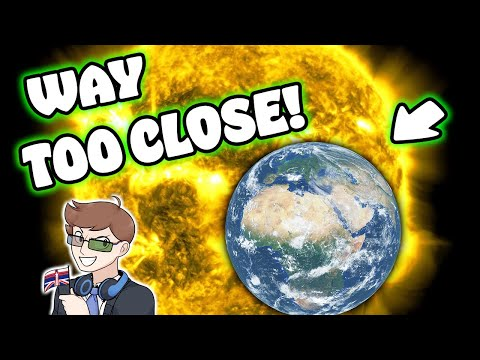 FLOATING EARTH ON THE SUN in Universe Sandbox! |