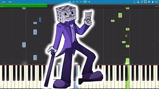 Cuphead - Die House Electro Swing Remix - The Musical Ghost ft OR3O - Piano Tutorial