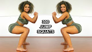 Try This For Thicker Legs & Bigger Butt | 300 Jump Squat Workout Challenge