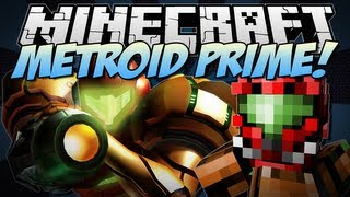 Minecraft   METROID PRIME! (Power Suits, Insane Weapons & More!)   Mod Showcase