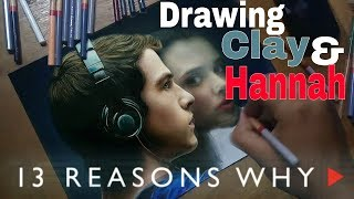 Drawing Clay Jensen and Hannah Baker (The Night We Met Cover)