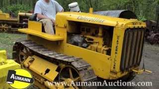 Caterpillar Twenty Two crawler tractor canvas art print Richard Browne Cat 22