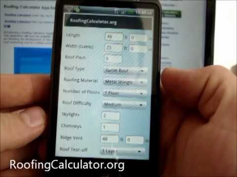How To Use Roofing Calculator   P1   YouTube