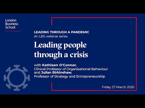 Leading through a pandemic - Leading people through a crisis