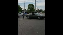 Asian Nail Worker Refused To Move and Jumps On Moving Car