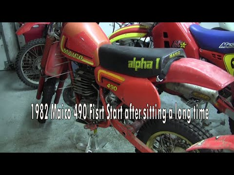 1982 Maico 490GS Start after a long time sitting