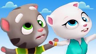 Говорящий Кот Том и друзья бег за золотом Новый игровой мультик СМЕШНЫЕ МОМЕНТЫ котенок для детей
