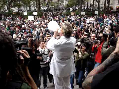 The Occupation of Wall Street Rev. Billy Preaches, 9/17/2011 forever!