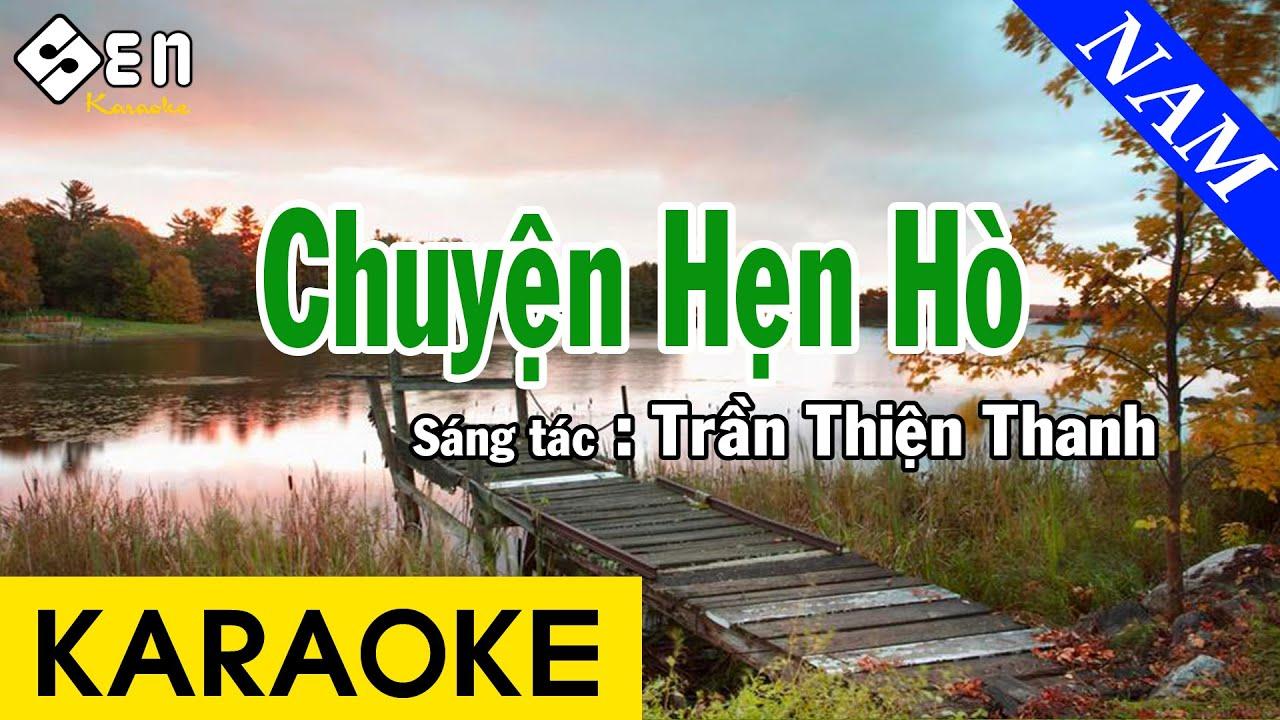 Karaoke Chuyện Hẹn Hò Remix Tone Nam Nhạc Sống - Beat Chuẩn