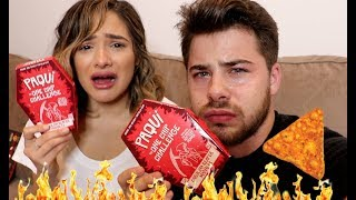 THE WORLDS HOTTEST CHIP (One Chip Challenge⎮Carolina Reaper)  Ft. Chachi Gonzales
