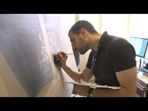 Iranian painter beautifies Tehran streets