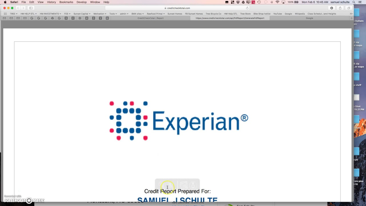 how to download experian credit report