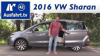 2016 Volkswagen Sharan 2.0 TDI 184 PS  - Fahrbericht der Probefahrt, Test, Review Ausfahrt.tv