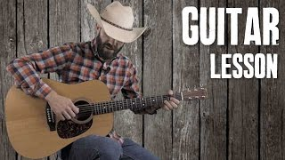 Intro to Classic Country and Bluegrass Strumming - Beginner Guitar Lesson Tutorial
