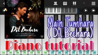 Download song Main tumhara easy piano tutorial | Dil Bechara | AR Rahman, Jonita Gandhi, Hriday | SSR #DilBechara