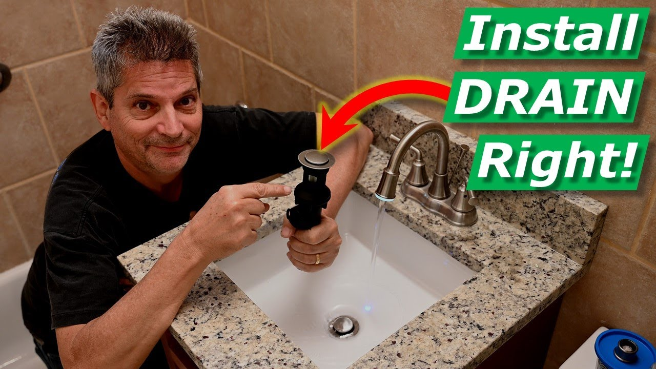 how to install bathroom sink drain faucet no leaks under gasket threads solved