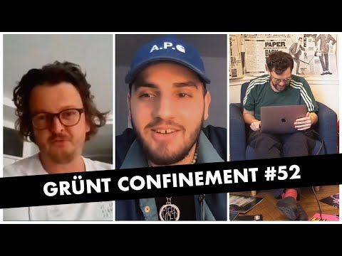 Youtube: Grünt Confinement #52 avec Tortoz et Guillaume Dufy
