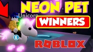 ROBLOX Adopt Me Pets GIVEAWAY WINNERS