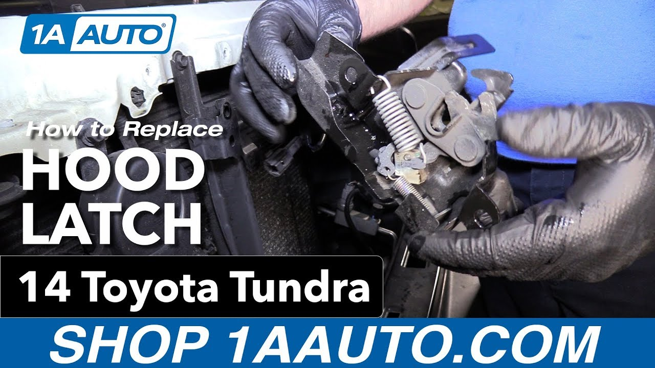 How To Replace Install Hood Latch 14 Toyota Tundra Youtube 2012 Sequoia Engine Diagram