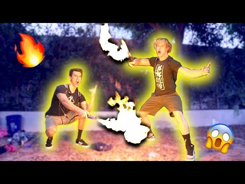 Thumbnail: LIGHTING MY BROTHER'S BACKYARD ON FIRE!