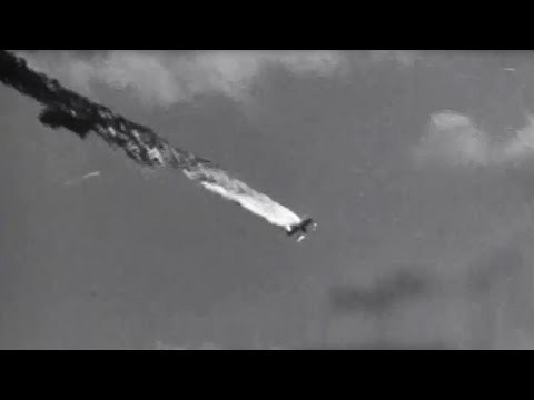 Ryukyu Islands (Okinawa) Attacked by 5th Fleet Planes Gun Camera Footage WW2 w/ Sound