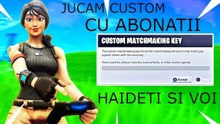 * LIVE FORTNITE ROMANIA * PLAY CUSTOM/END GAME/BRAVO AI SKIN WITH SUBSCRIBERS! | #203 |