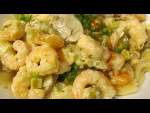 Spicy shrimp with lemon garlic cream sauce