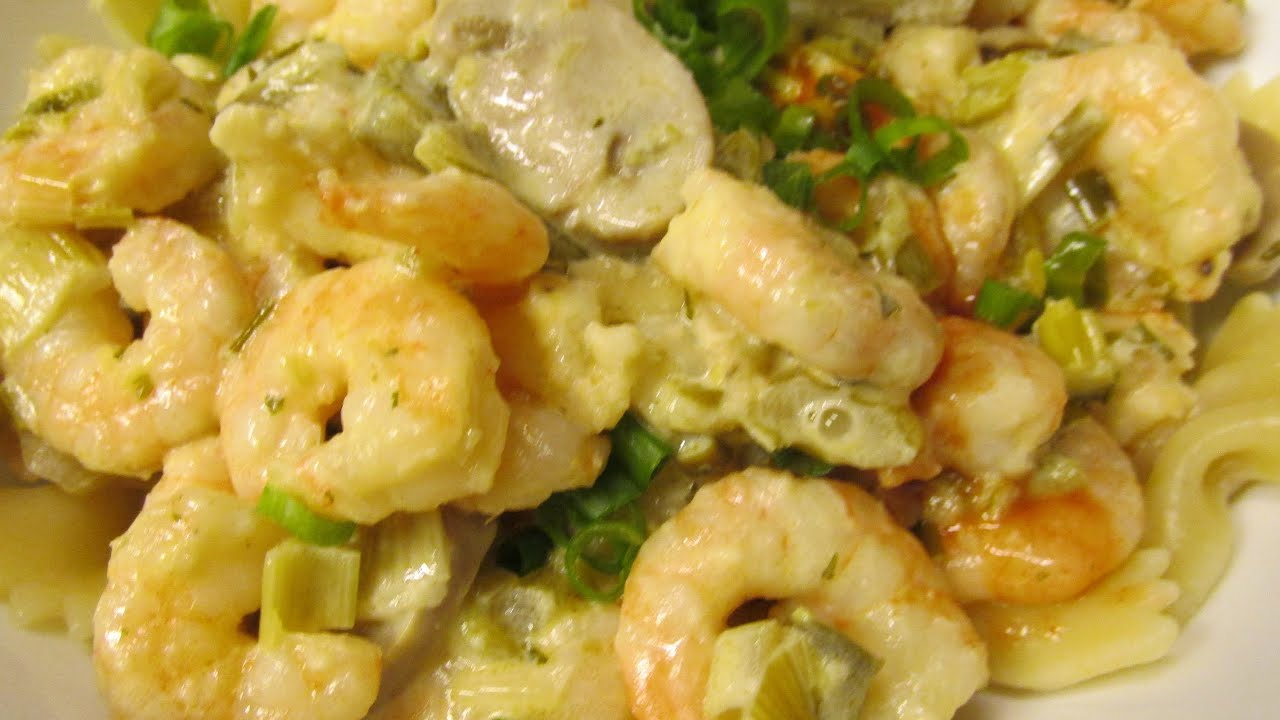 Spicy shrimp with lemon garlic cream sauce - YouTube