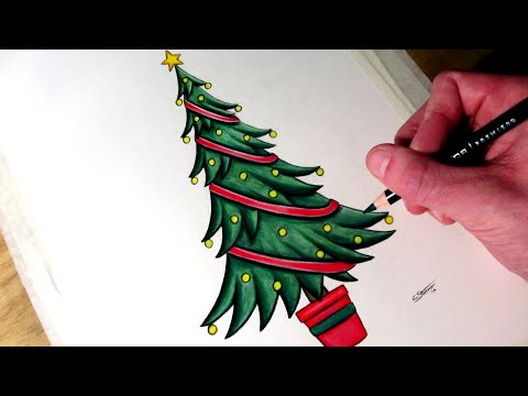 How To Draw Christmas Tree