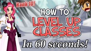 HOW TO GET RANK 10 ON ANY CLASS IN 60 SECONDS! AQW AdventureQuest Worlds
