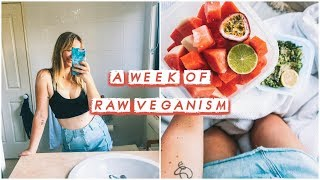 I Tried The RAW VEGAN DIET For A Week! 🍌🍉🥑🥕🥦