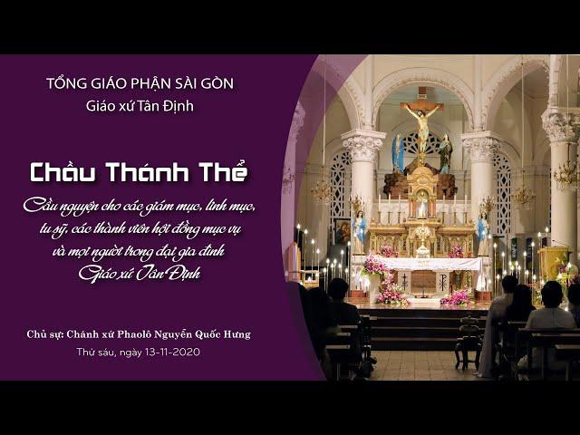 Chầu Thánh Thể: Cầu nguyện cho các vị giám mục, linh mục, tu sỹ, HĐMV và mọi người - 13/11/2020