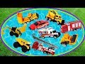 Learn Colors With Construction, Fire and Rescue Vehicles, Fun Learning Videos for Kids